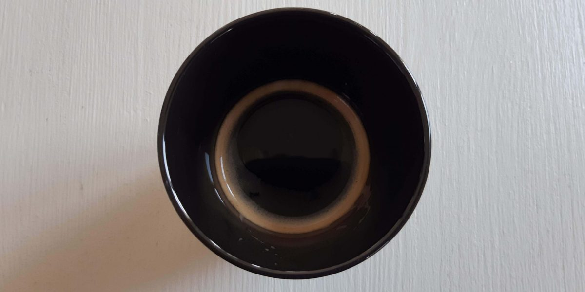 Coffee Black on White